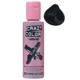 Crazy Color hajszínező krém 75 ml, 030 Black