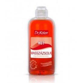 Dr. Kelen Hot masszázsolaj paprika kivonattal, 500 ml