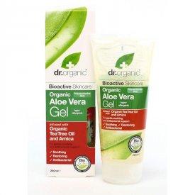 Dr. Organic Bio Aloe Vera gél teafa olajjal és árnikával, 200 ml
