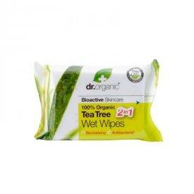Dr. Organic Bio Teafa nedves törlőkendő, 20 db