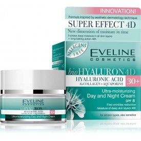 Eveline bioHyaluron 4D 30+ nappali és éjszakai krém minden bőrtípusra, 50 ml