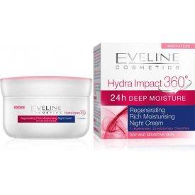 Eveline Hydra Impact 360 regeneráló éjszakai arckrém, 50 ml