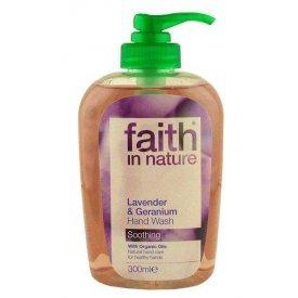 Faith in Nature folyékony kézmosó levendula és geránium
