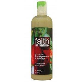 Faith In Nature hajkondicionáló minden hajtípusra, Gránátalma és Rooibos, 250 ml