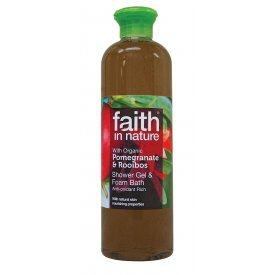 Faith In Nature tusfürdő, Gránátalma és Rooibos, 250 ml