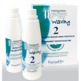 FaramaVita Life Waving Dauerszett 2 - rendkívül igénybevett, vegyileg kezelt hajra, 2x100 ml