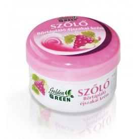 Golden Green szőlő bőrtápláló éjszakai arckrém, 100 ml