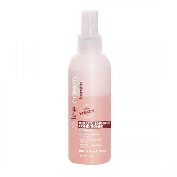 Inebrya Bi-Phase Keratin Kétfázisú hajbanmaradó kondícionáló, 200 ml