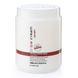 Inebrya Ice Cream Keratin Restructuringhajpakolás, 1 l