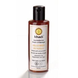 Khadi Ayurvédikus fürdő- és tusológél Amla & Neroli száraz, érzékeny bőrre, 210 ml