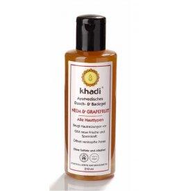 Khadi Ayurvédikus fürdő- és tusológél Neem és Grapefruit zsíros, problémás bőrre, 210 ml
