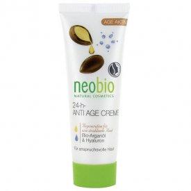 Neobio 24 órás öregedés gátló arckrém bio argánolajjal és hialuronsavval, 50 ml