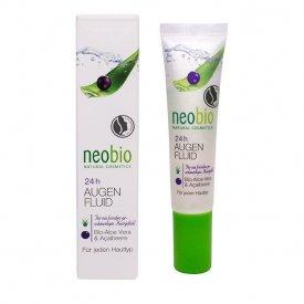 Neobio 24 órás Szemkörnyék ápoló bio Aloe verával és akaibogyóval, 15 ml