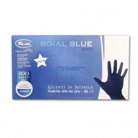 Ro.ial Nitril gumikesztyű kék, L, 100 db