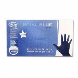 Ro.ial Nitril gumikesztyű kék, M, 100 db