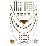 Tatoo Ékszertetoválás arany, ezüst, bohém 14x21cm - 15367000
