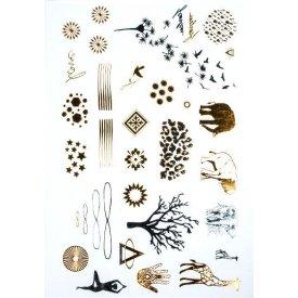 Tatoo Ékszertetoválás arany, ezüst, fekete, safari 14x21cm - 15371000