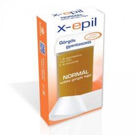 X-Epil normál gyantapatron széles görgőfejjel + 5 db lehúzó textília szett XE9005