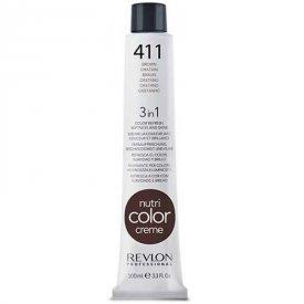 Revlon Nutri Color Creme színező hajpakolás 411 Brown, 100 ml