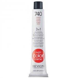 Revlon Nutri Color Creme színező hajpakolás 740 Copper, 100 ml