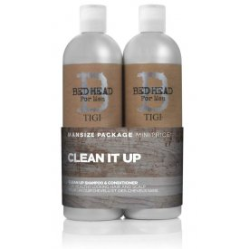 Tigi B For Men Clean Up Duo borsmentás sampon+kondicionáló minden napra, 750 ml+750 ml