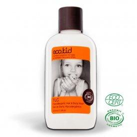 Eco Kid TLC hipoallergén sampon és tusfürdő kisbabák számára, 225 ml